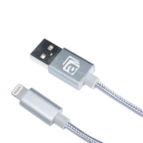 aMagic - 尼龍線材Lightning USB充電數據線-銀色(型號 : ACB-L210SL)