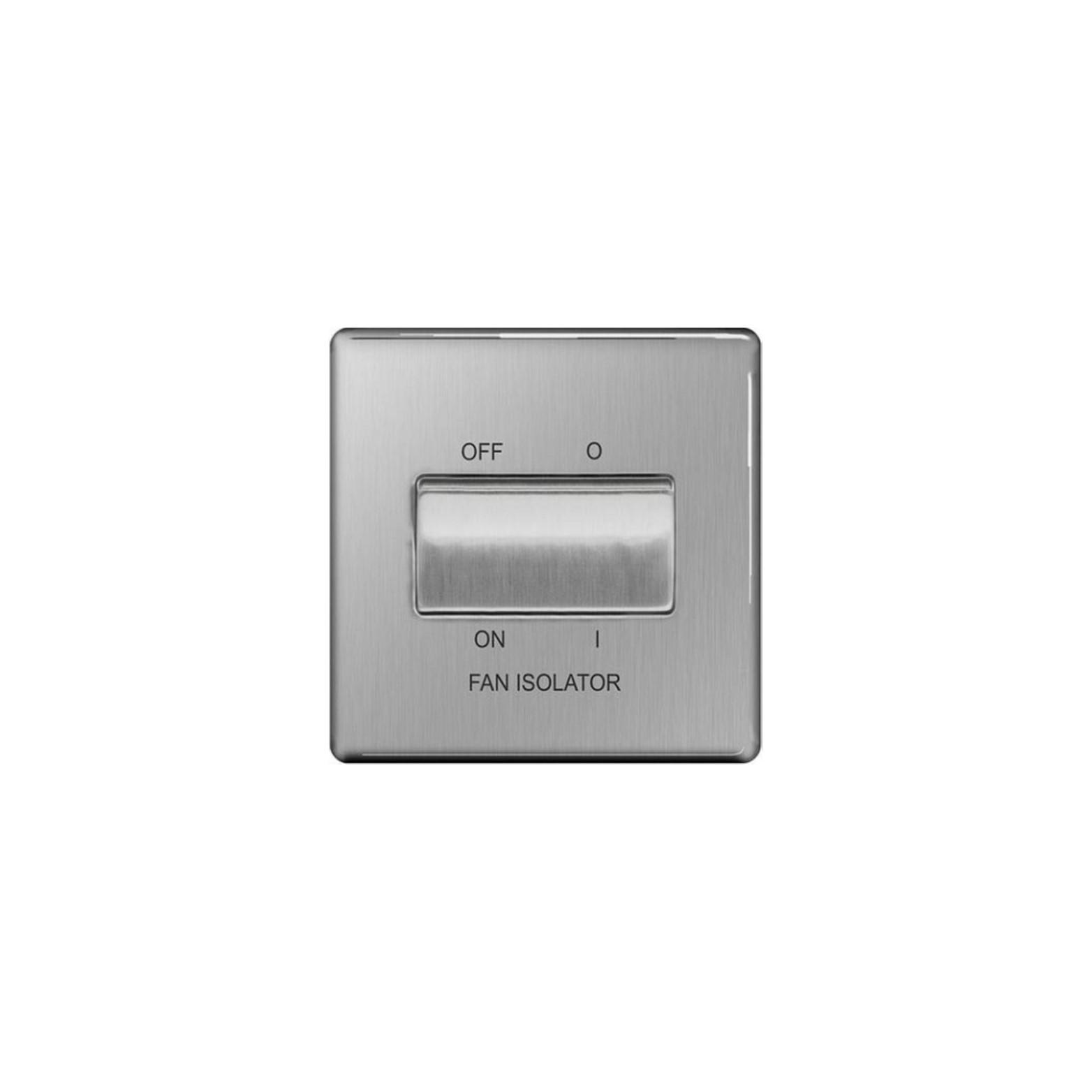 BG - 10AX三極風扇關開插座/蘇底-拉絲鋼色 (型號 : FBS15)