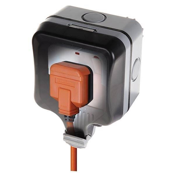 IP66 WeatherProof 1-Gang Switched Socket, Single outdoor water protect One Gang 2 Earth terminals(WP21)