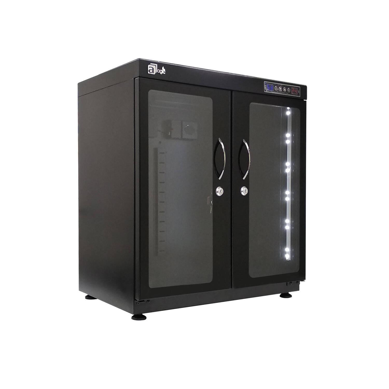 135公升按鍵式微電腦LED數控電子防潮箱,防潮櫃 密封箱 透明玻璃門 不透氣箱   乾燥乾爽箱 收納盒 防濕盒 抗疫櫃  自定調節濕度全自動恒濕控制LED柔光燈5年保養(ADC-ALED135L)
